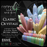 - Classic Crystals - A Mesh Product by Khyle Sion