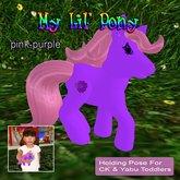my lil pony * pink/purple*