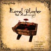 [DDD] Barrel Planter - Red Mushrooms