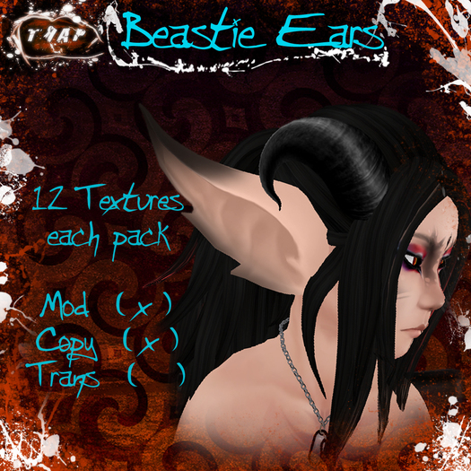 [][]Trap[][] Drow&Elf Beastie Ears pack