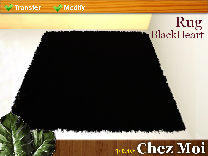 Rug BlackHeart ♥ NEW Chez Moi