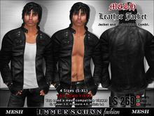 Immerschoen Man - MESH Leather Jacket 'Black'