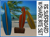 RE Surfboard w/Shark Bite Set - Fun Beach Decorations