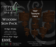 - Wooden Sign Pack - A Mesh Product by Khyle Sion