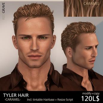 Hair TYLER - Caramel - REDGRAVE