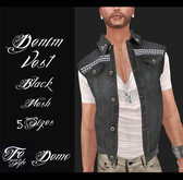 ::Fe Style:: DEMO - DENIM VEST - 5 Sizes