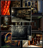 Gothic Haunted Places: Halls and Rooms Photo Background Textures