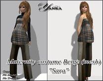 """Maternity costume Beige mesh """"Sara"""" from <<Yanka>>"""