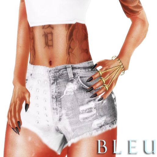 - B L E U - Chained Rings *GOLD* (BOXED)