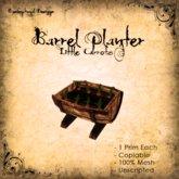 [DDD] Barrel Planter - Little Carrots