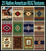 25 NATIVE AMERICAN RUG TEXTURES -