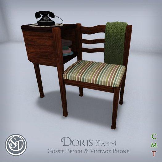 """.:SF:. """"Doris"""" Gossip Bench Set (Taffy)"""