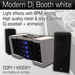 Modern Dj booth white (with unique effects)