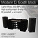 Modern Dj Booth Black (with unique light effects)