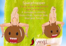 4 Spacehoppers Bouncing Ball (Doku-chan, Sponge Bob, Blue, Purple) {SmexyL}