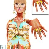 - B L E U - Amen! Chained Ring *Yellow Pack* (BOXED)