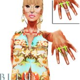 - B L E U - Amen! Chained Ring *Limon Pack* (BOXED)