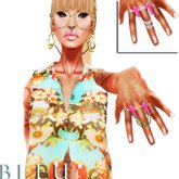 - B L E U - Amen! Chained Ring *Pink Pack* (BOXED)
