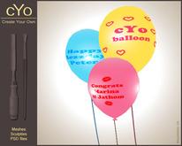 cYo Balloon, full perms + Photoshop file