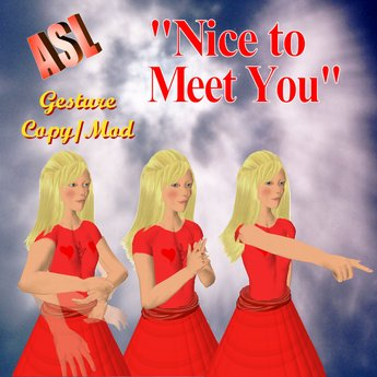 Second Life Marketplace Asl Nice To Meet You Gesture