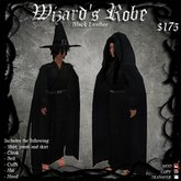 Wizard's Robe (Black Leather)