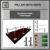 EMU Mesh Pillar with rope - Builders Kit