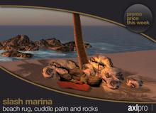 AXL pro box - Slash Marina Beach rug Cuddle Palm and rocks