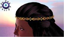 [su] dumping - Headband Bandana ruby gold Resize