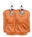 Tee*fy Herman's Loose Sweater Tangerine Set