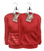 Tee*fy Herman's Loose Sweater Red Set