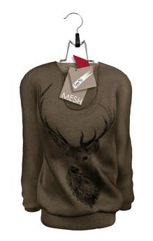 Tee*fy Herman's Loose Sweater Deer/Brown