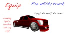 Equip Fire Utility Truck