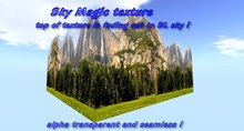 The Falls, Waterfall Mountains, Panorama view background privacy screen, seamless / alpha transparent