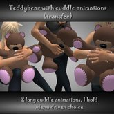 Stuffed animal, cuddle animations - teddybear (mesh) [WEARABLE]