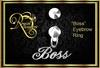 """Boss"" Eyebrow Ring (Boxed)"