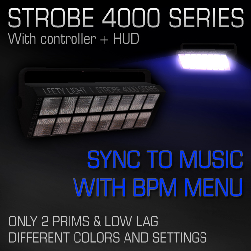 Strobe 4000 series with BPM menu