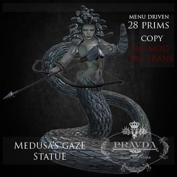 * PRAVDA - DC * - Medusa's Gaze Statue