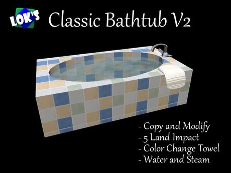 *Lok's* Classic Bathtub V2 (Yellow/Blue/White Tile)