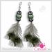 Peacok Earrings Folder - Casual Lies