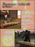 Japanese Koto by Voodoo - traditional Japanese Musical Instrument V2.0