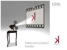 Kaerri Retro Projector & Screen