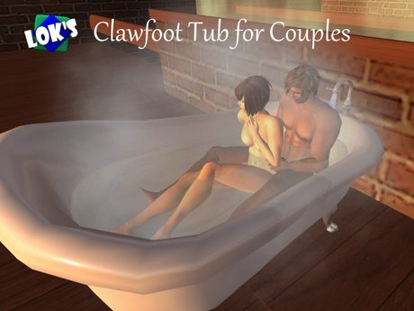 Second Life Marketplace Lok S Clawfoot Tub For Couples