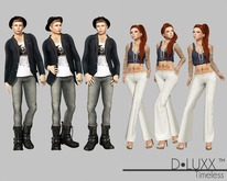 D.Luxx Poses  - Timeless - 3 Female & 3 Male Poses - Blogger Essentials