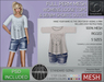 - TD TEMPLATES - Womens MESH Loose Tops & Denim Shorts Outfit  *FULL PERMS*