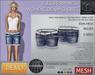 -TD- TEMPLATES - Womens MESH Denim Shorts DEMO