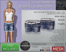 TD TEMPLATES - Womens MESH Denim Shorts *FULL PERMS*