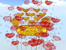 Welcome Home Baby Banner Balloons Love Miss You Boxed