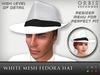 White Fedora Hat - Mesh