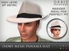 Ivory Panama Fedora Hat - Mesh