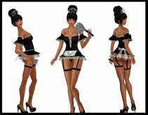 """♡ ! Complete Avatar - Sexy Naughty French Maid ~ With Animated """"Wash Floor"""" Pose, Sexy Dance, Sexy Walk, AO & More !"""